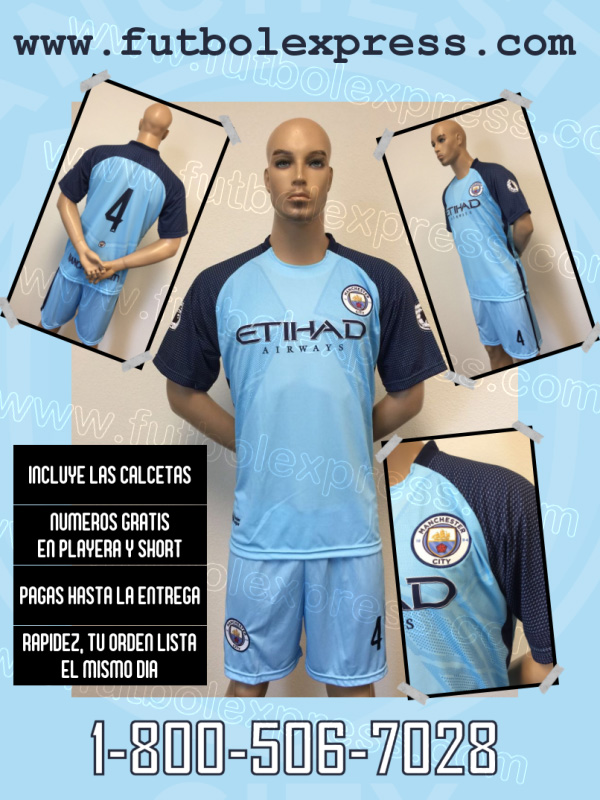 Uniforme Manchester City Local 2016-2017