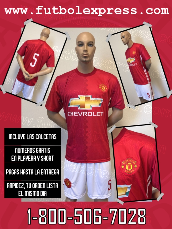 Uniforme Manchester United Local 2016-2017
